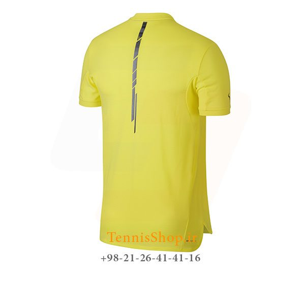 تیشرت تنیس زرد برند Nike مدل RAFA AEROREACT CHALLENGER