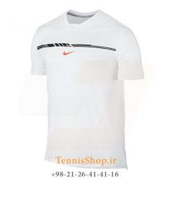 تیشرت تنیس سفید برند Nike مدل RAFA NADAL AEROREACT SLIM TOP