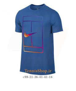 تیشرت تنیس آبی برند Nike مدل COURT IRIDESCENT