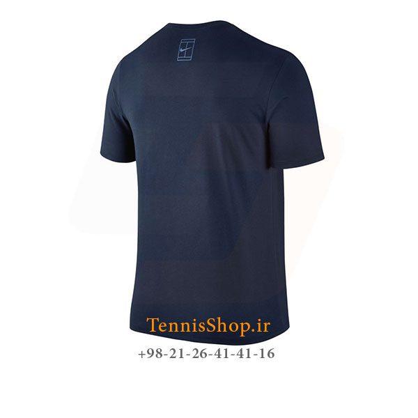 تیشرت تنیس سرمه ای برند Nike مدل Court Roger Federer