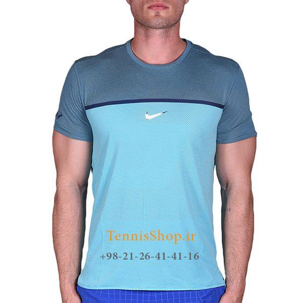 تیشرت تنیس سرمه ای برند Nike مدل Premier Rafa Crew