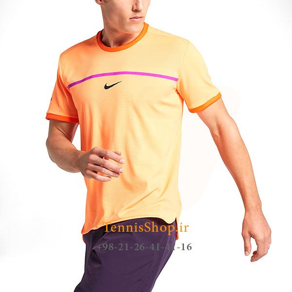 تیشرت تنیس نارنجی برند Nike مدل CHALLENGER PREMIER RAFA