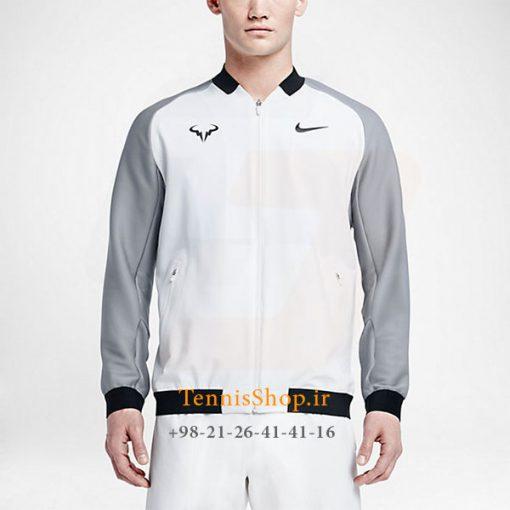 سوییشرت تنیس سفید برند Nike مدل Premier Rafael Nadal