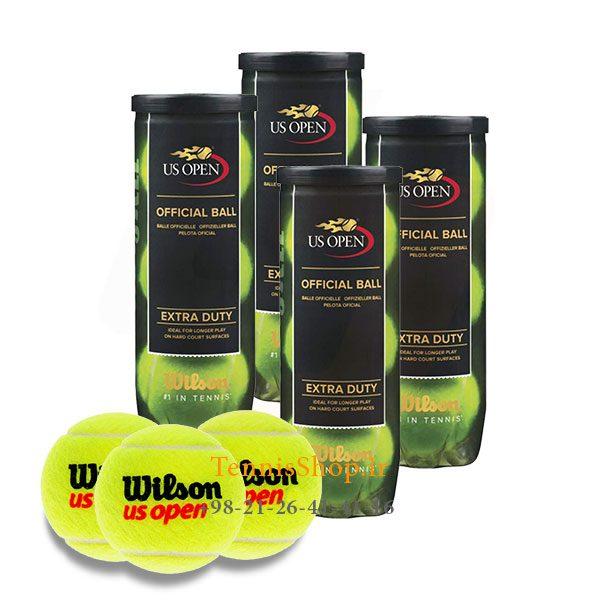 4 قوطی سه تایی توپ تنیس برند Wilson مدل Us Open 600x600 - 4 قوطی سه تایی توپ تنیس برند Wilson مدل Us Open