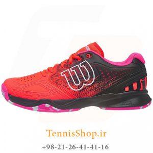 WILSON KAOS COMP SHOE FIERY CORAL. 300x300 - کفش تنیس زنانه Wilson سری Kaos مدل Comp رنگ صورتی
