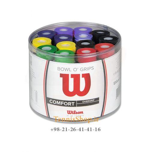 اورگریپ راکت تنیس ویلسون سری Pro Color مدل 60 عددی رنگارنگ