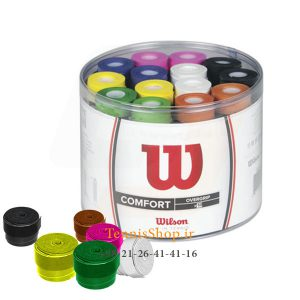 60 عددی اورگریپ رنگی برند Wilson 300x300 - اورگریپ راکت تنیس ویلسون سری Pro Color مدل 60 عددی رنگارنگ