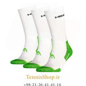 تنیس سه جفتی مدل Performance Crew برند Head رنگ سفید سبز 300x300 - جوراب تنیس سه جفتی مدل Performance Crew برند Head رنگ سفید سبز