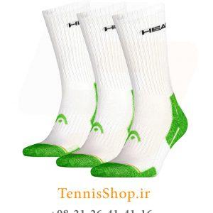 تنیس سه جفتی مدل Performance Crew برند Head رنگ سفید سبز1 300x300 - جوراب تنیس سه جفتی مدل Performance Crew برند Head رنگ سفید سبز