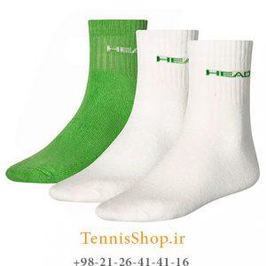 تنیس سه جفتی مدل Short Crew برند Head رنگ سفید سبز 4 300x300 - جوراب تنیس سه جفتی  مدل Short Crew برند Head رنگ سفید سبز