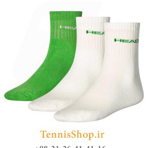 تنیس سه جفتی مدل Short Crew برند Head رنگ سفید سبز 5 300x300 - جوراب تنیس سه جفتی  مدل Short Crew برند Head رنگ سفید سبز