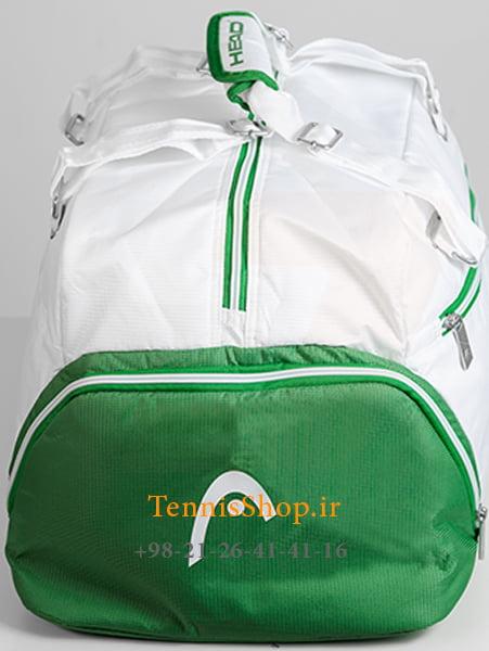 ساک باشگاهی تنیس هد سری Tour Team مدل Court رنگ سفید سبز