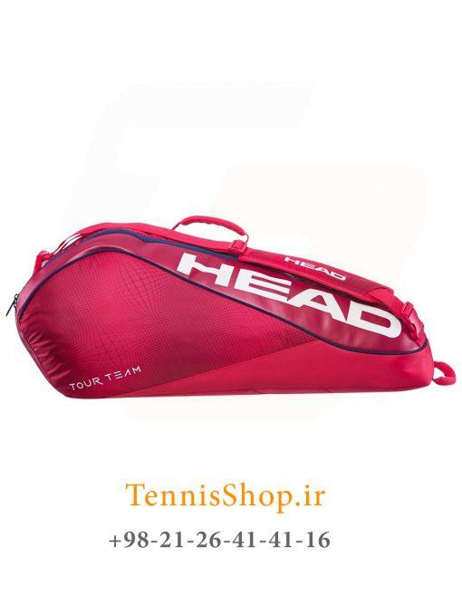 """تنیس 6 راکته مدل Tour Team 2019 برند Head رنگ قرمز سرمه ای 1 2 <p style=""""text-align: justify""""><span style=""""color: #000000""""><span style=""""color: #ff6600""""><strong><a style=""""color: #ff6600"""" href=""""https://tennisshop.ir/product-category/%D8%AE%D8%B1%DB%8C%D8%AF-%D8%B3%D8%A7%DA%A9-%D8%AA%D9%86%DB%8C%D8%B3/%D8%A8%D8%B1%D9%86%D8%AF-%D9%87%D8%A7%DB%8C-%D8%B3%D8%A7%DA%A9-%D8%AA%D9%86%DB%8C%D8%B3/%D8%B3%D8%A7%DA%A9-%D8%AA%D9%86%DB%8C%D8%B3-%D9%87%D8%AF/"""" target=""""_blank"""" rel=""""noopener noreferrer"""">ساک تنیس هد</a></strong></span> <span style=""""color: #ff6600""""><strong><a style=""""color: #ff6600"""" href=""""https://tennisshop.ir/series/%d9%87%d8%af-tour-team/"""" target=""""_blank"""" rel=""""noopener noreferrer"""">سری Tour Team</a></strong></span> مدل 6 راکته رنگ قرمز سرمه ای NEW محصول سال 2019 کمپانی هد ، با آخرین تکنولوژی روز در گردش هوای درون ساک و سیستم محافظت از راکت در شرایط تغییر دماییی Climate Control Tech می باشد. این ساک بسیار زیبا از مواد اولیه بسیار با کیفیت و مقاومی ساخته شده ، بخش بندی مناسب و تخصیص فضاهای جداگانه برای لوازم مختلف از دیگر گزینه های کاربردی این ساک تنیس می باشد.</span></p>"""