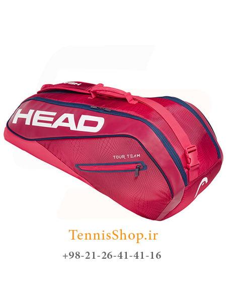 ساک تنیس هد سری Tour Team مدل 6 راکته رنگ قرمز سرمه ای NEW