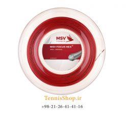 زه رول تنیس ام اس وی سری Focus Hex مدل 1.27 رنگ قرمز