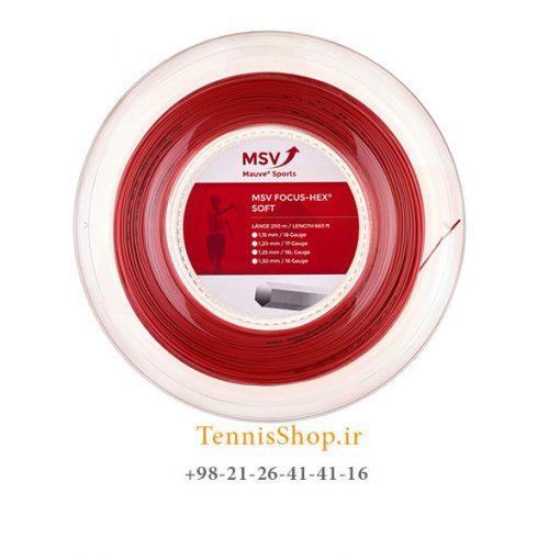 زه رول تنیس ام اس وی سری Focus Hex SOFT مدل 1.25 رنگ قرمز