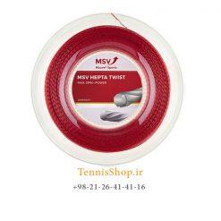 زه رول تنیس ام اس وی سری Hepta Twist مدل 1.25 رنگ قرمز