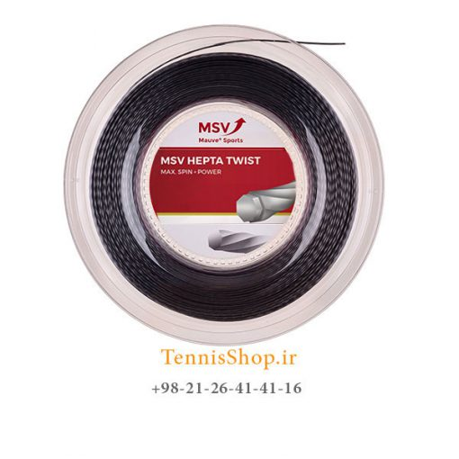 زه رول تنیس ام اس وی سری Hepta Twist مدل 1.30 رنگ مشکی