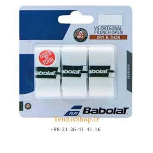 اورگریپ راکت تنیس بابولات سری Vs Grip roland garros مدل 3 عددی سفید