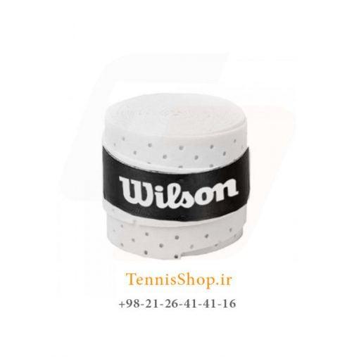 اورگریپ راکت تنیس ویلسون سری سوراخ دار مدل تک عددی سفید