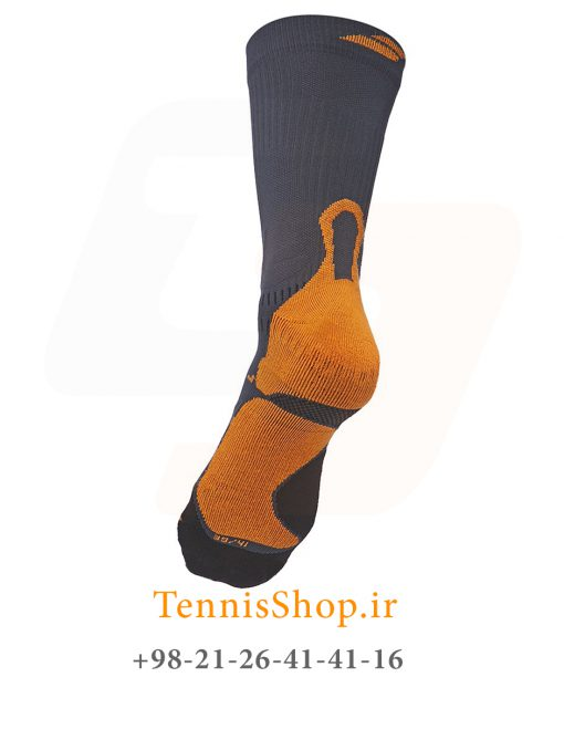 جوراب تنیس بابولات سری Pro 360 مدل یک جفتی رنگ مشکی نارنجی