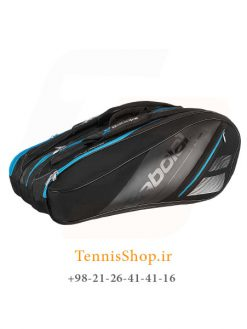 ساک تنیس بابولات سری Team Line مدل 12 راکته رنگ مشکی آبی