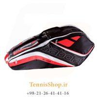 ساک تنیس بابولات سری Team Line مدل 6 راکته رنگ قرمز فسفری (1)