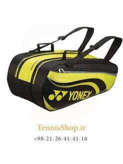 ساک تنیس یونکس سری 8829 مدل 9 راکته رنگ مشکی لیمویی