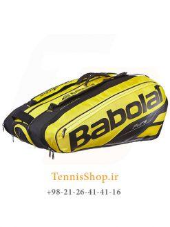 ساک تنیس بابولات سری Pure Aero مدل 12 راکته رنگ زرد مشکی