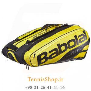 تنیس 12 راکته مدل Pure Aero برند Babolat رنگ مشکی زرد 1 300x300 - ساک تنیس بابولات سری Pure Aero مدل 12 راکته رنگ زرد مشکی