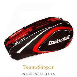 تنیس 12 راکته Babolat مدل Club رنگ قرمز مشکی 1 300x300 - ساک تنیس بابولات سری Club مدل 12 راکته رنگ قرمز مشکی
