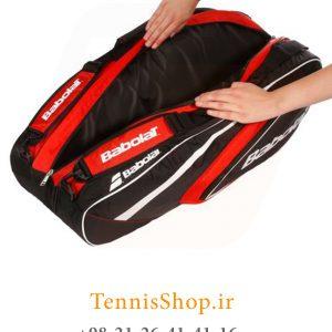 تنیس 12 راکته Babolat مدل Club رنگ قرمز مشکی 2 300x300 - ساک تنیس بابولات سری Club مدل 12 راکته رنگ قرمز مشکی