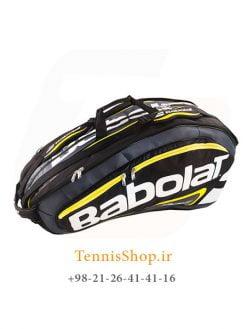 ساک تنیس بابولات سری Team Line مدل 12 راکته رنگ مشکی زرد