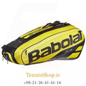 تنیس 6 راکته Babolat مدل Pure Aero رنگ مشکی زرد 1 300x300 - ساک تنیس بابولات سری Pure Aero مدل 6 راکته رنگ مشکی زرد