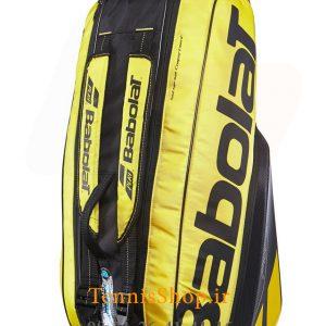 تنیس 6 راکته Babolat مدل Pure Aero رنگ مشکی زرد 5 300x300 - ساک تنیس بابولات سری Pure Aero مدل 6 راکته رنگ مشکی زرد