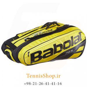 تنیس 9 راکته Babolat مدل Pure Aero رنگ مشکی زرد 1 300x300 - ساک تنیس بابولات سری Pure Aero مدل 9 راکته رنگ مشکی زرد