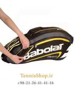 تنیس 9 راکته Babolat مدل TEAM LINE رنگ مشکی زرد 4 247x296 - ساک تنیس بابولات سری Team Line مدل 9 راکته رنگ مشکی زرد