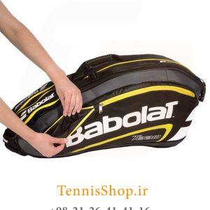 تنیس 9 راکته Babolat مدل TEAM LINE رنگ مشکی زرد 4 300x300 - ساک تنیس بابولات سری Team Line مدل 9 راکته رنگ مشکی زرد