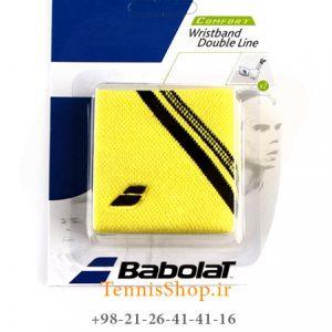 بند تنیس بابولات سری Double Line مدل 2 عددی رنگ زرد 1 300x300 - مچ بند تنیس بابولات سری  Double Line مدل 2 عددی  رنگ زرد
