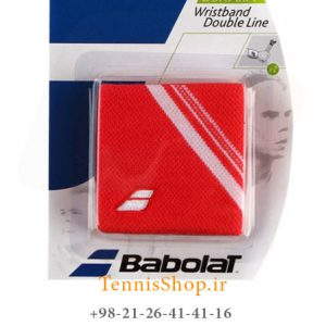 بند تنیس بابولات سری Double Line مدل 2 عددی رنگ قرمز 1 300x300 - مچ بند تنیس بابولات سری Double Line مدل 2 عددی رنگ قرمز