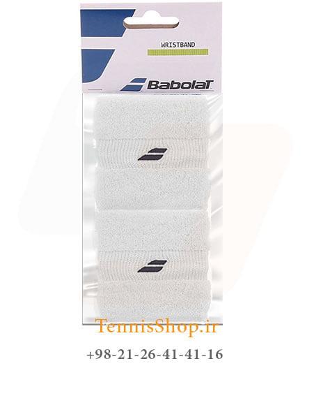 مچ بند تنیس بابولات سری Mini Comfort مدل 2 عددی رنگ سفید