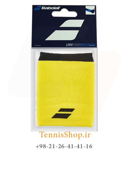 مچ بند تنیس بابولات سری Logo Jumbo مدل 2 عددی رنگ زرد