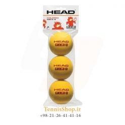 پک سه تایی توپ تنیس هد سری TIP رنگ قرمز