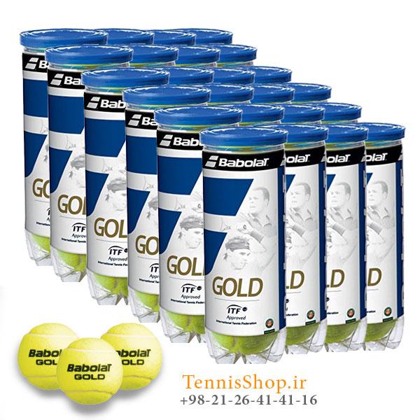 کارتن 24 عددی قوطی سه تایی توپ تنیس بابولات مدل GOLD
