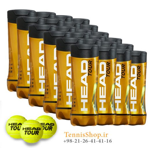 کارتن 24 عددی قوطی سه تایی توپ تنیس هد سری Tour