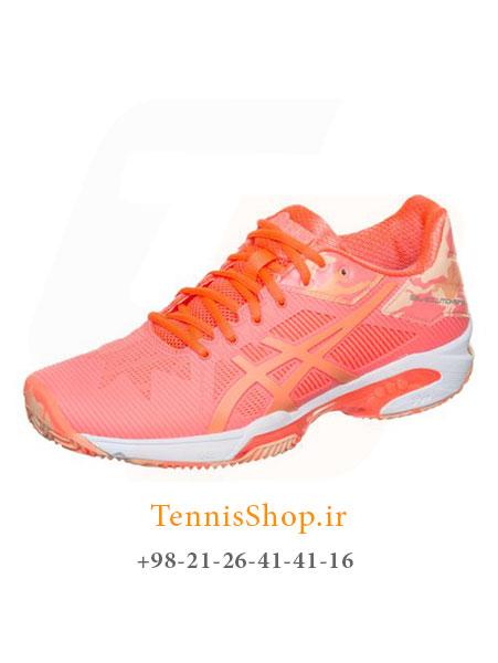 کفش تنیس زنانه اسیکس سری Solution Speed مدل CLAY 3 L.E رنگ گلبهی