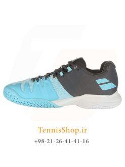 کفش تنیس زنانه بابولات مدل Propulse Blast رنگ آبی خاکستری