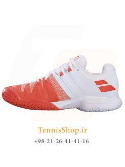 کفش تنیس زنانه بابولات مدل Propulse Blast رنگ قرمز سفید