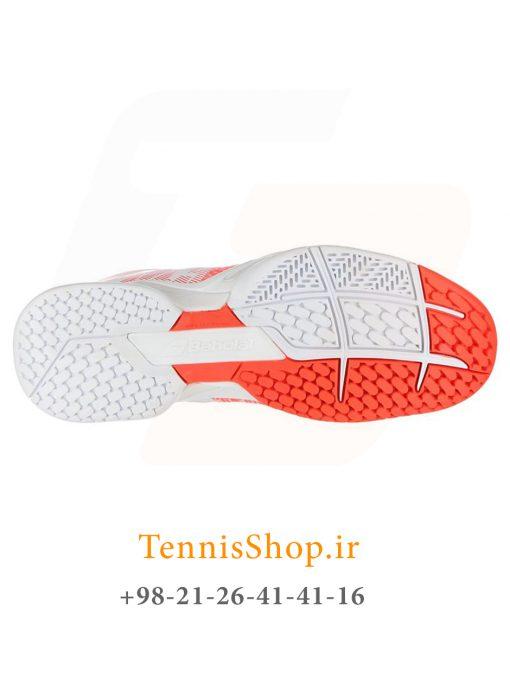 """تنیس زنانه بابولات مدل Propulse Blast رنگ قرمز سفید4 1 <p style=""""text-align: justify;""""><span style=""""color: #000000;""""><span style=""""color: #ff6600;""""><a style=""""color: #ff6600;"""" href=""""https://tennisshop.ir/product-category/%D8%AE%D8%B1%DB%8C%D8%AF-%DA%A9%D9%81%D8%B4-%D8%AA%D9%86%DB%8C%D8%B3/%D8%A8%D8%B1%D9%86%D8%AF-%DA%A9%D9%81%D8%B4-%D8%AA%D9%86%DB%8C%D8%B3/%DA%A9%D9%81%D8%B4-%D8%AA%D9%86%DB%8C%D8%B3-%D8%A8%D8%A7%D8%A8%D9%88%D9%84%D8%A7%D8%AA/""""><strong>کفش تنیس بابولات</strong></a></span> <span style=""""color: #ff6600;""""><strong><a style=""""color: #ff6600;"""" href=""""https://tennisshop.ir/series/%d8%a8%d8%a7%d8%a8%d9%88%d9%84%d8%a7%d8%aa-propulse-blast/"""">سری Propulse Blast</a></strong></span> رنگ قرمز سفید محصول شرکت Babolat می باشد. این کفش تنیس از مواد اولیه بسیار با کیفیتی ساخته شده که عمر و دوام این کفش را به اندازه قابل توجهی بهبود بخشیده است. مناسب برای بازیکنانی که حرکات پای سریع مانند استارت های انفجاری و استپ های ناگهانی دارند. این کفش مناسب همه زمین های تنیس است همچنین دارای تکنولوژی ویژه ای برای ساپورت قسمت کناری پا می باشد و از پا در مقابل آسیب های وارده تا حد زیادی محافظت میکند.</span></p>"""