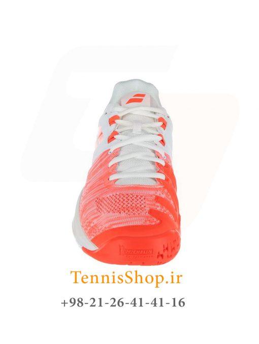 """تنیس زنانه بابولات مدل Propulse Blast رنگ قرمز سفید4 2 <p style=""""text-align: justify;""""><span style=""""color: #000000;""""><span style=""""color: #ff6600;""""><a style=""""color: #ff6600;"""" href=""""https://tennisshop.ir/product-category/%D8%AE%D8%B1%DB%8C%D8%AF-%DA%A9%D9%81%D8%B4-%D8%AA%D9%86%DB%8C%D8%B3/%D8%A8%D8%B1%D9%86%D8%AF-%DA%A9%D9%81%D8%B4-%D8%AA%D9%86%DB%8C%D8%B3/%DA%A9%D9%81%D8%B4-%D8%AA%D9%86%DB%8C%D8%B3-%D8%A8%D8%A7%D8%A8%D9%88%D9%84%D8%A7%D8%AA/""""><strong>کفش تنیس بابولات</strong></a></span> <span style=""""color: #ff6600;""""><strong><a style=""""color: #ff6600;"""" href=""""https://tennisshop.ir/series/%d8%a8%d8%a7%d8%a8%d9%88%d9%84%d8%a7%d8%aa-propulse-blast/"""">سری Propulse Blast</a></strong></span> رنگ قرمز سفید محصول شرکت Babolat می باشد. این کفش تنیس از مواد اولیه بسیار با کیفیتی ساخته شده که عمر و دوام این کفش را به اندازه قابل توجهی بهبود بخشیده است. مناسب برای بازیکنانی که حرکات پای سریع مانند استارت های انفجاری و استپ های ناگهانی دارند. این کفش مناسب همه زمین های تنیس است همچنین دارای تکنولوژی ویژه ای برای ساپورت قسمت کناری پا می باشد و از پا در مقابل آسیب های وارده تا حد زیادی محافظت میکند.</span></p>"""